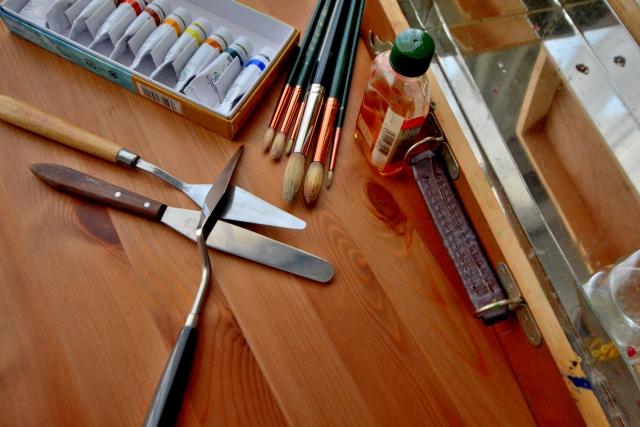 上西竜二さんが油絵を始めたきっかけ
